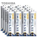 【日本製TOSHIBA】IMPULSE高容量低自放電電池(2450mAh 3號16入)