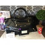 【BALENCIAGA】黑色小金釦 Giant part time bag 機車282009 1000包 *全新*
