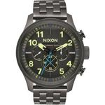 【NIXON】SAFARI DUAL TIME LEATHER 怒海潛龍時尚腕錶(A10811418)