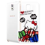 【Hello Kitty】三星 SAMSUNG Galaxy Note3 透明 手機軟殼(糖果HI)