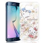 【Hello Kitty】Samsung Galaxy S6 Edge 透明 手機軟殼(熱線KITTY)