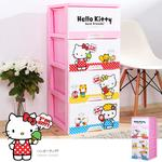 【MR.BOX】 HELLO KITTY四層櫃-點點-app