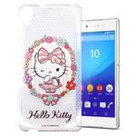 【Hello Kitty】Sony Xperia Z3+ E6553 透明 手機軟殼(花邊Kitty)
