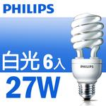 【飛利浦 Philips】HELIX 省電燈泡 27W  (六入) 白光