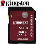 Kingston 金士頓 64GB 90MB/s SDXC SD UHS-I U3 C10 記憶卡