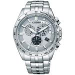 【CITIZEN Eco-Drive】電波碼錶鬧鈴時尚男錶 (AT3000-59A)