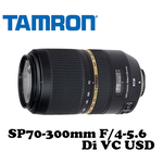 【TAMRON】騰龍 SP70-300mm F/4-5.6 Di VC USD A005 公司貨