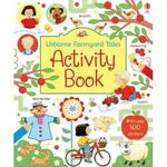 英國 Usborne Farmyard Tales Activity Book 貼紙遊戲書 *db小舖*