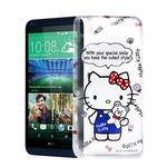 Hello Kitty HTC Desire 816 透明軟式手機殼(Kitty公仔)