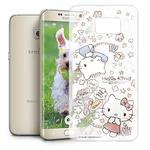 Hello Kitty 三星 Samsung Galaxy S6 Edge+ 透明軟式手機殼(熱線Kitty)
