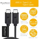 【PowerFalcon】USB Type C(公) to Type C (公)1M, 3A快速充電傳輸線