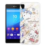 【Hello Kitty】Sony Xperia Z3+ E6553 手機軟殼(熱線KITTY)