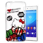 Hello Kitty Sony Xperia M4 Aqua 透明軟式手機殼(糖果HI)
