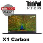 Lenovo 聯想 ThinkPad X1c 14吋 FHD IPS i7-7600U 16G 512G SSD Win10 Pro X1 Carbon