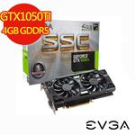 【EVGA艾維克】GTX1050Ti 4GB SSC GAMING顯示卡 (04G-P4-6255-KR)