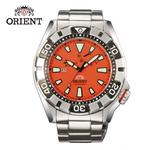 【ORIENT 東方錶】ORIENT 東方錶 M-FORCE FOR AIR DIVING系列 200m潛水機械錶 鋼帶款 SEL03002M 橘色 - 46mm(機械錶)
