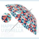 【HAPPY CLEAR UMBRELLA】PRISM 紅藍撞色(晴天 雨傘)