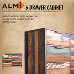 【ALMI】RECYCLED-CHEST 6 DRAWERS 六抽斗櫃-24期活動