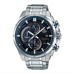 【CASIO EDIFICE】CASIO EDIFICE EQS-600D-1A2太陽能藍牙智慧指針腕錶/黑藍49mm(EQS-600D-1A2)