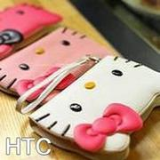 TOUCH-KR Hello Kitty 手繩磁釦皮套 手機殼│hTC ButterFly S│