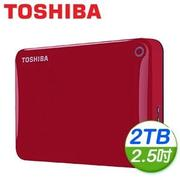 Toshiba 東芝 Canvio Connect II V8 2TB USB3.0 2.5吋行動硬碟《紅》