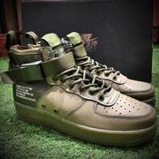 "Nike Special Fied SF AF1 force Mid 中幫拉鍊機能空軍一號""軍綠色""   情侶款"