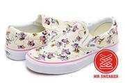 ☆Mr.Sneaker☆ VANS x Disney Slip On 聯名 迪士尼 米妮 Minnie  米白/粉色
