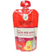 Pumpkin Tree Snacks, Peter Rabbit Organics, Organic Fruit Puree, Apple & Peach, 4 oz (113 g)
