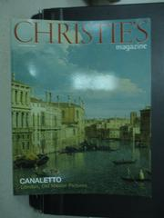 【書寶二手書T4/收藏_YHU】CHRISTIE'S_CANALETTO London..._2003/12
