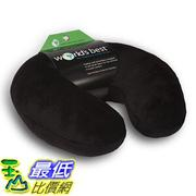 [美國直購] 航空坐飛機用頸枕睡枕枕頭 World's 2360 BLAK Best Feather Soft Microfiber Neck Pillow, Black