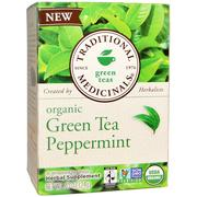[iHerb] Traditional Medicinals, Green Teas, Organic Green Tea Peppermint, 16 Wrapped Tea Bags, .85 oz (24 g)
