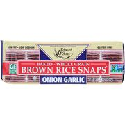 [iHerb] Edward & Sons, Baked Whole Grain Brown Rice Snaps, Onion Garlic, 3.5 oz (100 g)