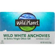 [iHerb] Wild Planet, Wild White Anchovies In Extra Virgin Olive Oil, 4.4 oz (125 g)