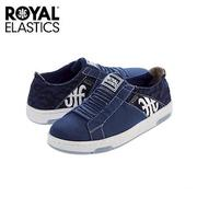 【Royal Elastics】女-Icon Washed 休閒鞋-深藍/豹紋(92371-590)