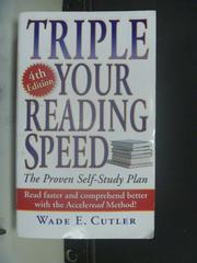 【書寶二手書T2/財經企管_NSM】Triple Your Reading Speed_Cutler