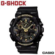 "CASIO GA-100CF-1A9《G-SHOCK ""BIG G""》叢林迷彩系列 (黑x金)"