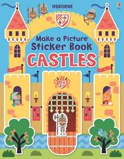 Usborne Make a Picture Sticker Book 貼紙書 Castles *夏日微風*