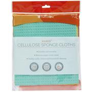 "Full Circle, Squeeze Cellulose Cleaning Cloths, Pack of 3, 7"" x 8"" Each"