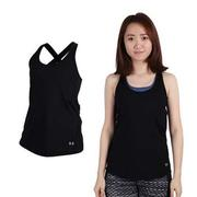 【UNDER ARMOUR】UA 女 HG COOLSWITCH運動背心-慢跑 黑  CoolSwitch內層