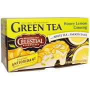 [iHerb] Celestial Seasonings, Green Tea, Honey Lemon Ginseng, 20 Tea Bags, 1.5 oz (42 g)