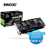 INNO3D 映眾多媒體 GeForce GTX 1060 6GB GDDR5 TWIN X2 顯示卡 N106F-5SDN-N5GS