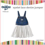 Enen Shop @OshKosh B'gosh 俏皮單寧花邊吊帶裙 ∥12M/18M/24M/2T/3T/4T/5T