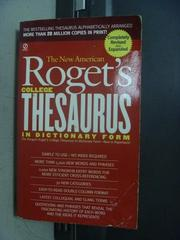 【書寶二手書T6/字典_OGD】Rogets College Thesaurus in Dictionary Form
