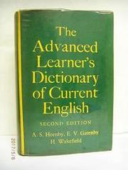 ADVANCED LEARNER'S DICTIONARY OF CURRENT ENGLISH 英文字典B2.1