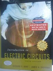 【書寶二手書T3/大學理工醫_QFG】Electric Circuits 6/e _Richard、James