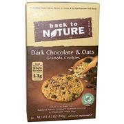 [iHerb] Back to Nature, Granola Cookies, Dark Chocolate & Oats, 8.5 oz (240 g)