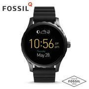 FOSSIL Q MARSHAL智慧錶 FTW2107/黑x矽膠帶 ios+android兼容/45mm