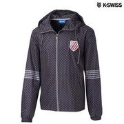 K-Swiss Star Print Windbreaker風衣外套-男-黑