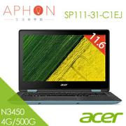 【Aphon生活美學館】ACER Spin 1 SP111-31-C1EJ 11.6吋 Win10 2G獨顯 筆電(N3450/4G/500G)-送TESCOM mini負離子吹風機