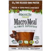 [iHerb] Macrolife Naturals, MacroMeal, Chocolate Protein + Superfoods, 1.6 oz (45 g)